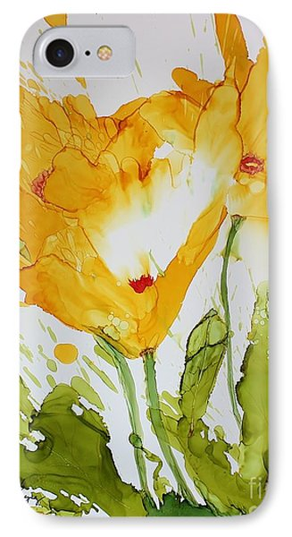 Sun Splashed Poppies IPhone Case