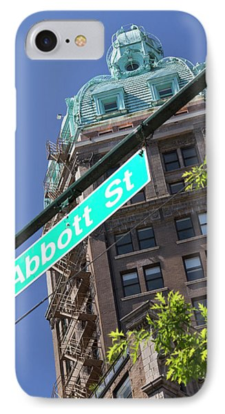 Sun Tower On Abbott Street IPhone Case by William Sutton