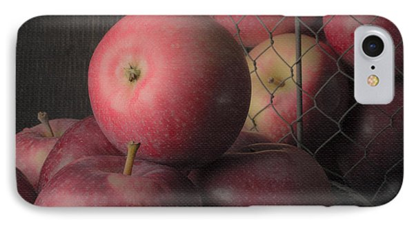 Sun Warmed Apples Still Life Square Phone Case by Edward Fielding