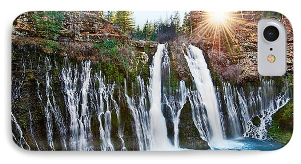 Sunburst Falls - Burney Falls Is One Of The Most Beautiful Waterfalls In California IPhone Case by Jamie Pham