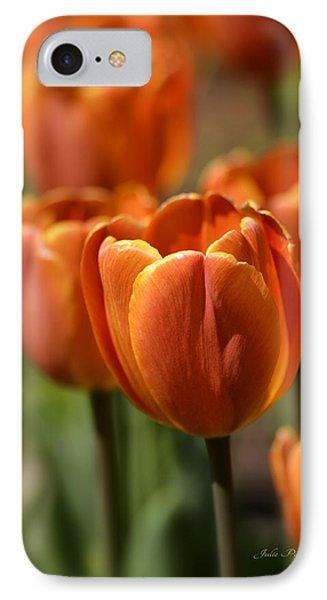 Sunburst Tulips Phone Case by Julie Palencia