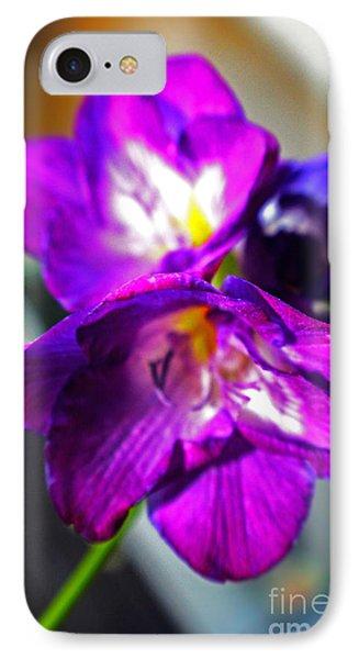 Sunburst Violet Phone Case by Rebecca Christine Cardenas