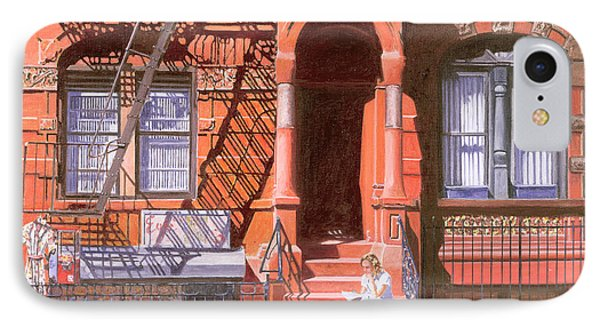 Sunday Afternoon East 7th Street Lower East Side Nyc IPhone Case by Anthony Butera