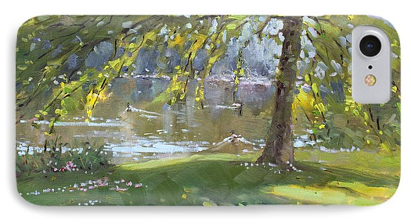 Sunday By The Pond In Port Credit Mississauga Phone Case by Ylli Haruni