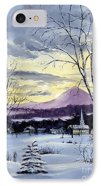 IPhone Case featuring the painting Sunday In Winter by Lee Piper