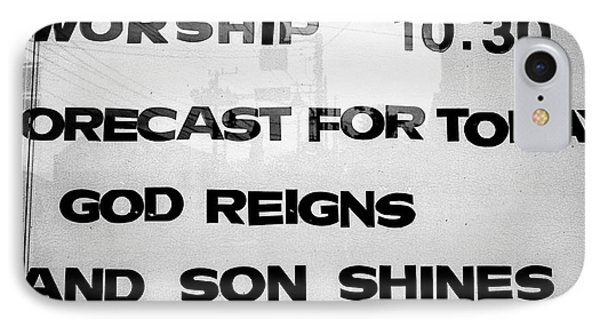 Sunday School Worship - God Reigns And Son Shines IPhone Case by Dean Harte