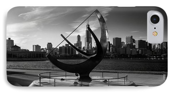 Sundial And Chicago Il B W IPhone Case