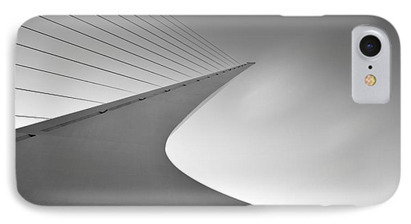 Sundial Bridge Bw 6 IPhone Case