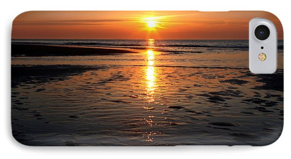 IPhone Case featuring the photograph Sundown At The North Sea by Annie Snel