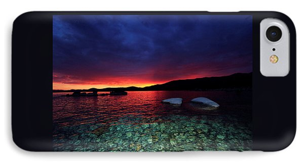 IPhone Case featuring the photograph Sundown In Lake Tahoe by Sean Sarsfield