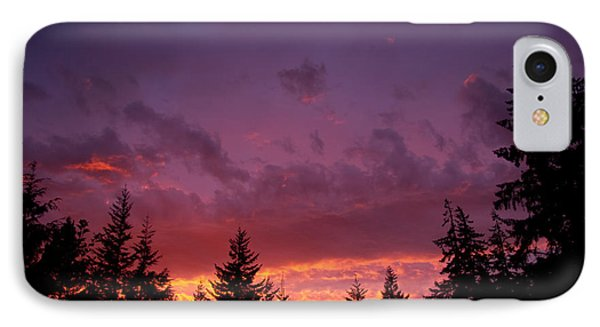 IPhone Case featuring the photograph Sundown In Lilac And Orange by Adria Trail