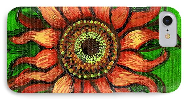 Sunflower 1 IPhone Case by Genevieve Esson