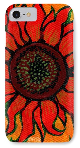 Sunflower 2 IPhone Case by Genevieve Esson
