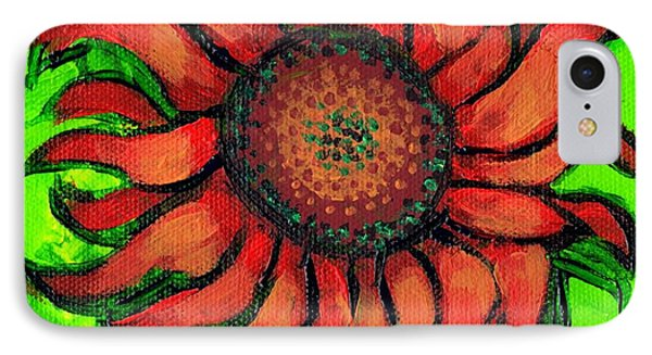 Sunflower 3 IPhone Case by Genevieve Esson