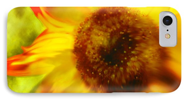 IPhone Case featuring the digital art Sunflower-a-blaze by Janie Johnson