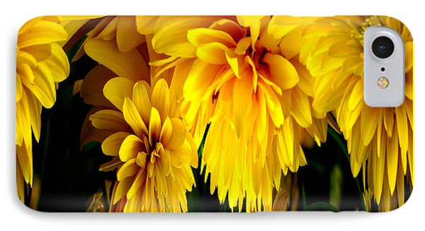 Sunflower Abstract 1 Phone Case by Rose Santuci-Sofranko