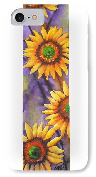 Sunflower Abstract  IPhone Case by Chrisann Ellis