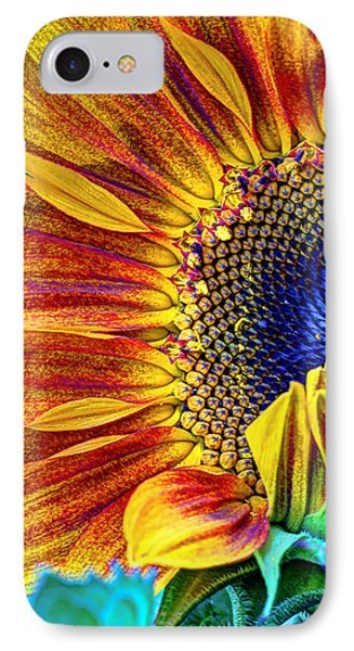 Sunflower Abstract Phone Case by Heidi Smith