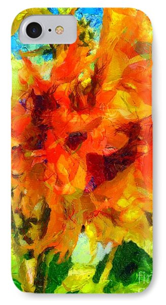 Sunflower Afternoon Impressions IPhone Case by Janine Riley