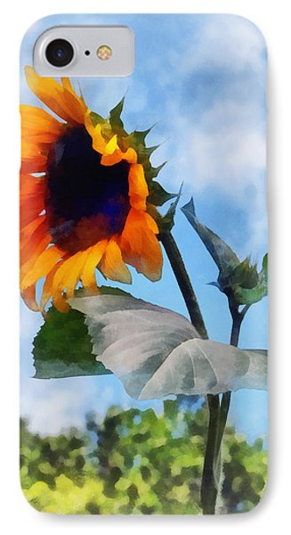 Sunflower Against The Sky Phone Case by Susan Savad