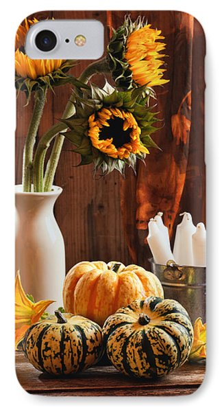 Sunflower And Gourds Still Life IPhone Case by Amanda Elwell