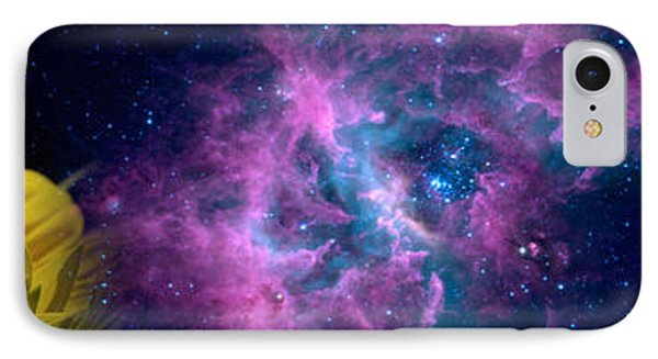Sunflower And Koi Carp In Space IPhone Case by Panoramic Images