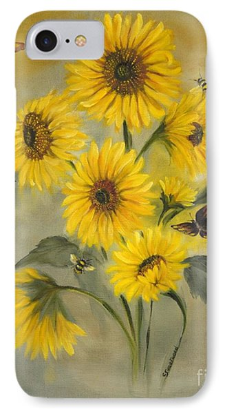 IPhone Case featuring the painting Sunflower Bouquet by Carol Sweetwood