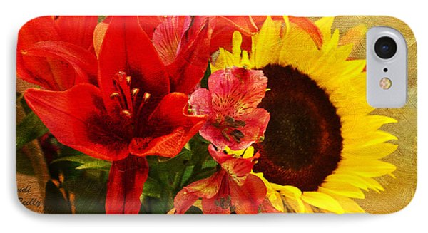 Sunflower Bouquet IPhone Case by Sandi OReilly