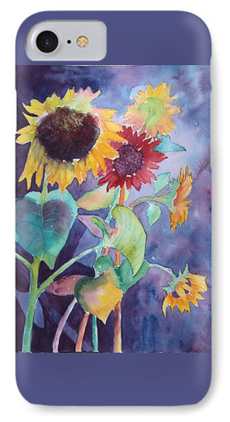 IPhone Case featuring the painting Sunflower Color by Nancy Jolley