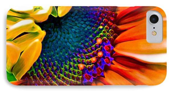 Sunflower Crazed IPhone Case by Gwyn Newcombe