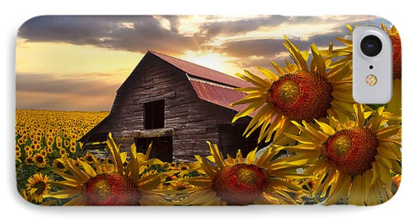 Sunflower Dance Phone Case by Debra and Dave Vanderlaan