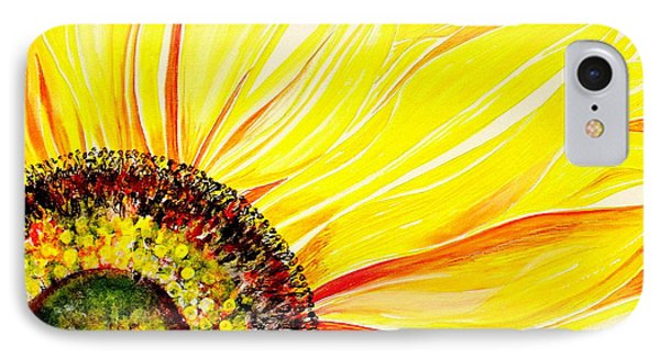 IPhone Case featuring the painting Sunflower Day by Julie  Hoyle