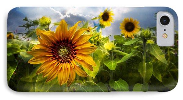 Sunflower Dream Phone Case by Debra and Dave Vanderlaan
