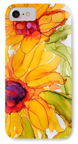 Sunflower Duo IPhone Case by Vicki  Housel