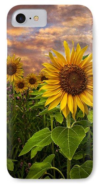 Sunflower Dusk Phone Case by Debra and Dave Vanderlaan