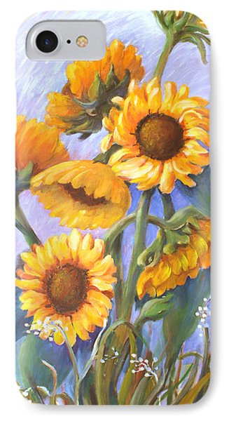 Sunflower Family IPhone Case by Marta Styk