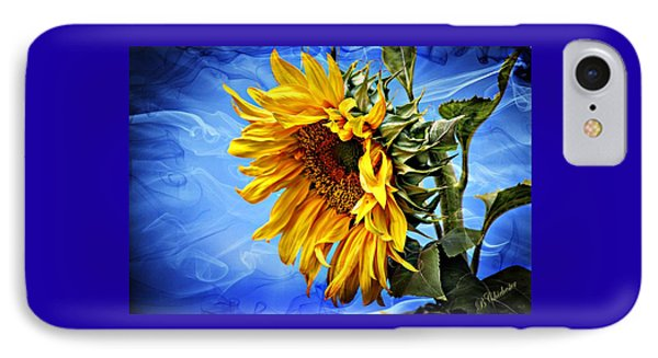 IPhone Case featuring the photograph Sunflower Fantasy by Barbara Chichester