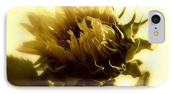 IPhone Case featuring the photograph Sunflower - Fare Thee Well by Janine Riley
