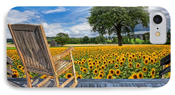 Sunflower Farm Phone Case by Debra and Dave Vanderlaan