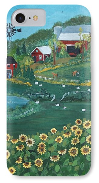 Sunflower Farm IPhone Case by Virginia Coyle