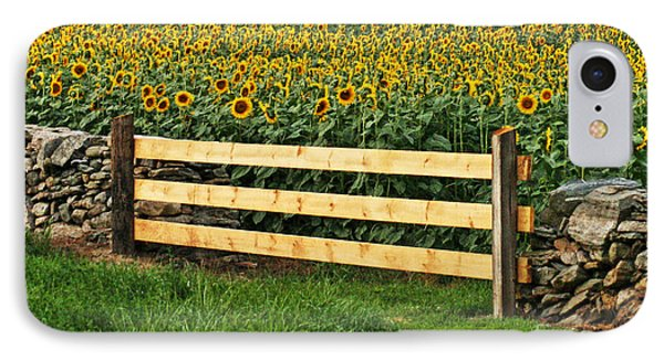 Sunflower Fence IPhone Case