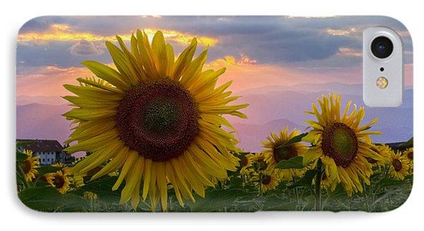 Sunflower Field Phone Case by Debra and Dave Vanderlaan
