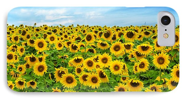 IPhone Case featuring the photograph Sunflower Field by Mike Ste Marie