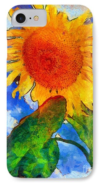 Sunflower - From Heaven Above IPhone Case by Janine Riley