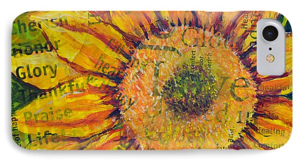 Sunflower Glory IPhone Case by Lisa Fiedler Jaworski