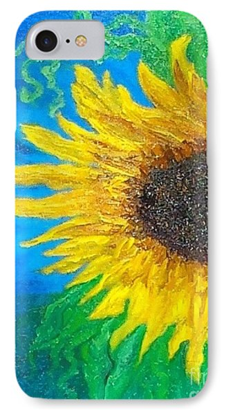 IPhone Case featuring the painting Sunflower by Holly Martinson