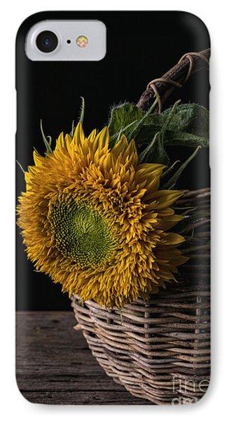 Sunflower In A Basket IPhone Case by Edward Fielding
