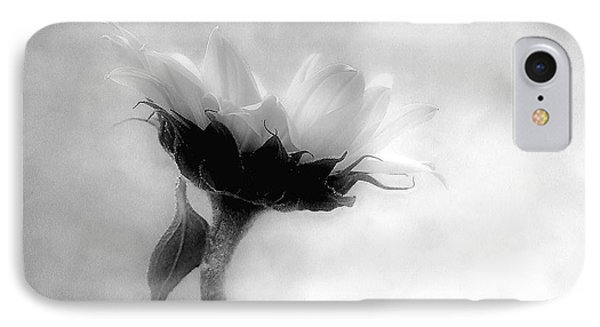 Sunflower In Profile IPhone Case by Louise Kumpf