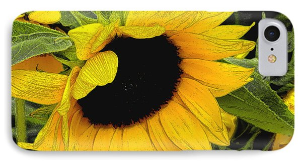 IPhone Case featuring the photograph Sunflower by James C Thomas