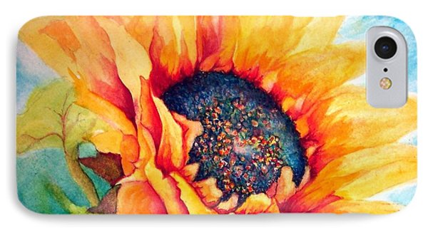 Sunflower Joy IPhone Case by Janine Riley